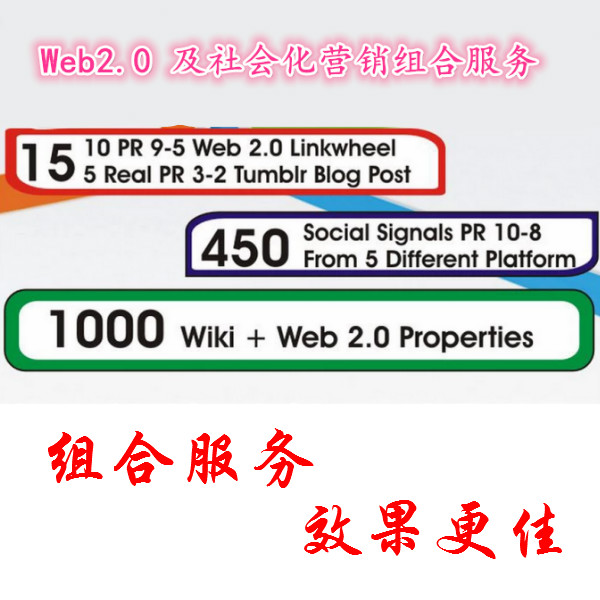 Web2.0及社会化营销服务组合服务